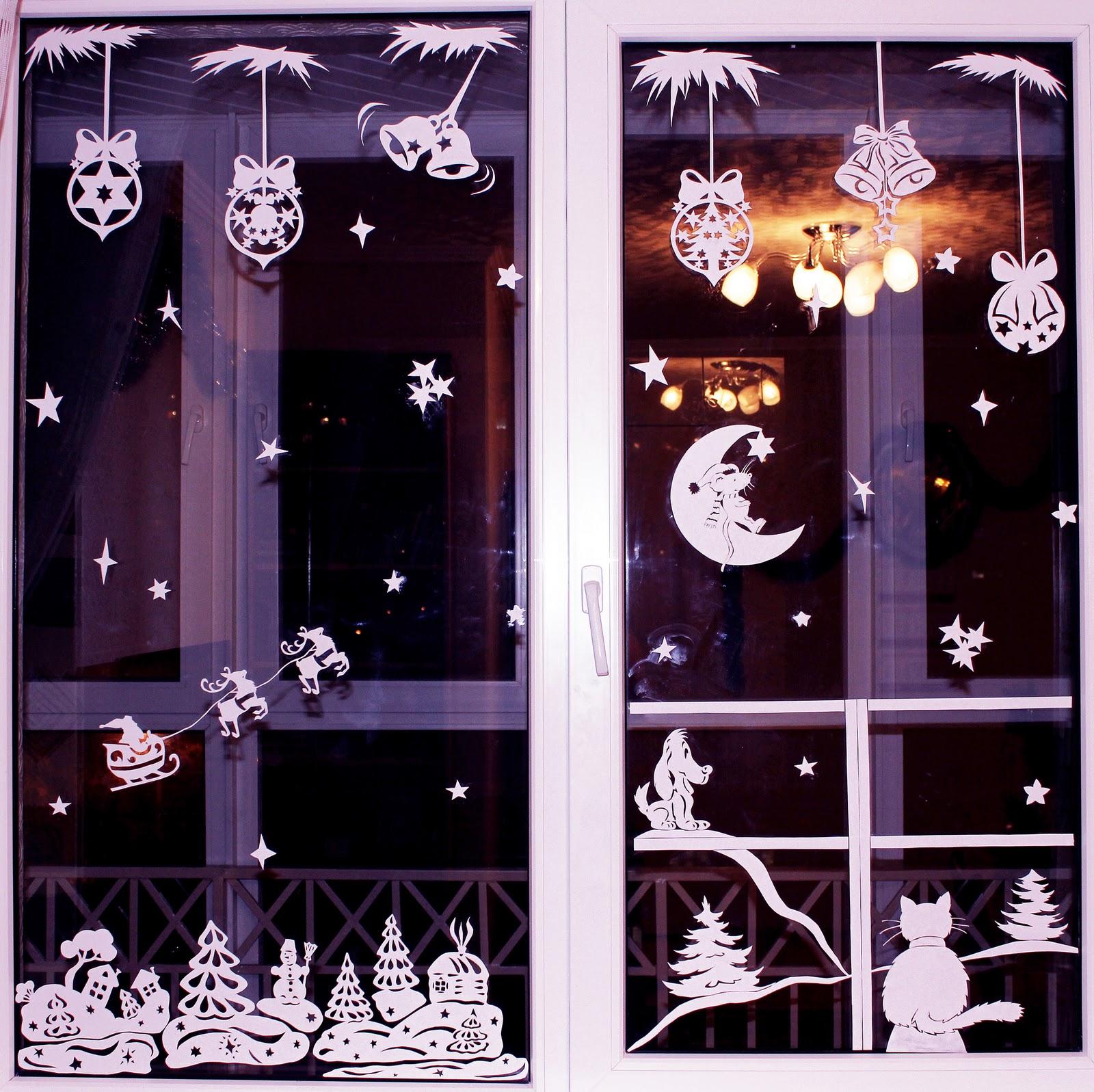 Как красиво украсить окна под Новый Год?