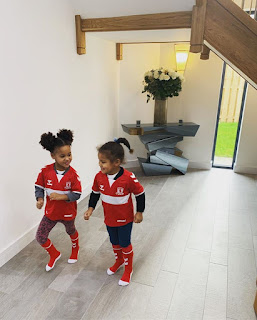 'My Biggest Supporters': Mikel Obi's Twin Daughters Rocks His New Club's Jersey