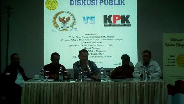 ISKA bahas DPR vs KPK