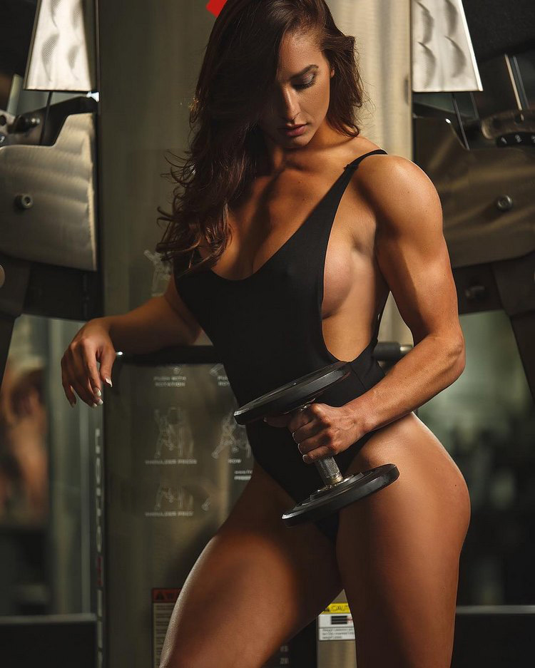 Training in the gym universal program for girls