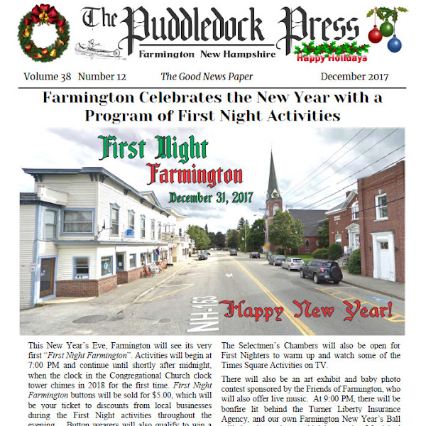 The December 2017 Issue of the Puddledock Press is Out!