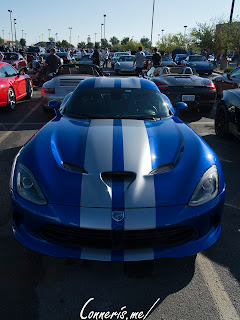 Dodge Viper GTS Silver on Blue Stripes