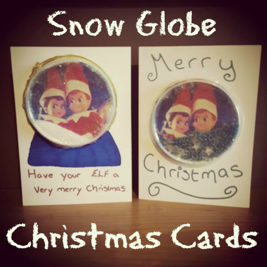 968543365278 A Mothers Ramblings  Kid Made Snow Globe Cards