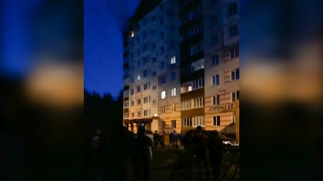 В День города в одной из квартир случился пожар