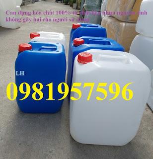 Can nhựa nguyên sinh đựng chất lỏng an toàn, can chuyên dụng đựng hóa chất công nghiệp nặng có tính ăn mòn