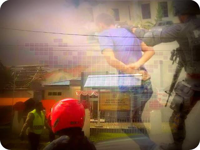 Tiga Tersangka Pembakaran Kantor KPU Kepulauan Yapen Ditangkap