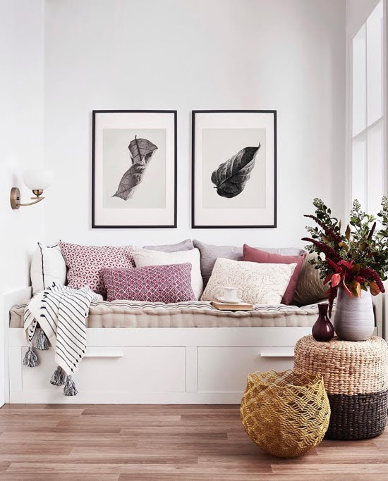 Safari Fusion blog >< Daybed styling | Make it Sunday everyday with this cosy contemporary reading nook | Styling by Sarah Maloney for Australian House & Garden magazine