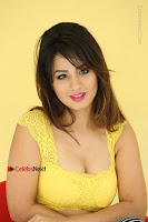 Cute Telugu Actress Shunaya Solanki High Definition Spicy Pos in Yellow Top and Skirt  0459.JPG
