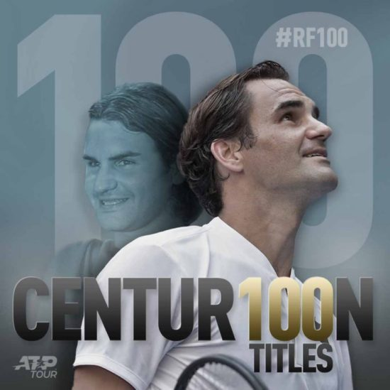 Roger Federe: wins 100th singles title