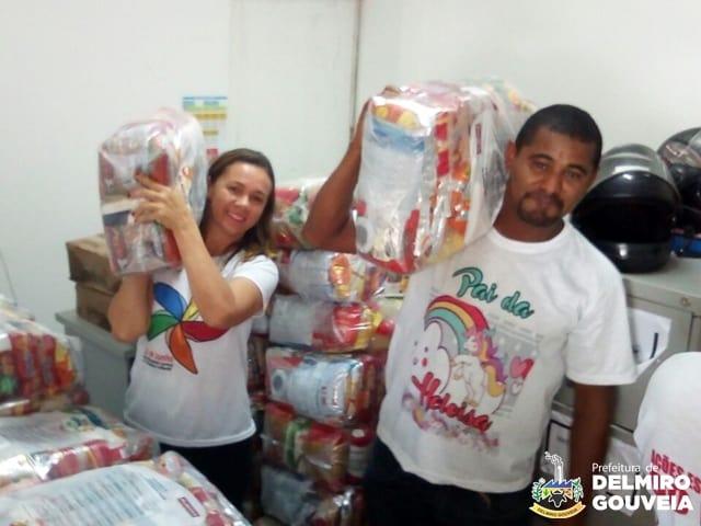 Em Delmiro Gouveia, mais de 300 cestas nutricionais são distribuídas para gestantes e nutrizes