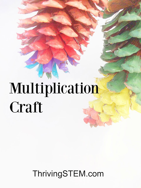 Here is a fun way to work on your multiplication skills and make some beautiful nature art at the same time.
