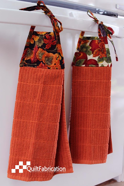 Autumn hanging towels