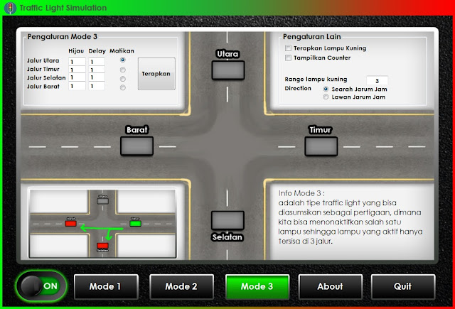 Contoh Program Simulasi Traffic Light Menggunakan Bahasa C# (C Sharp)