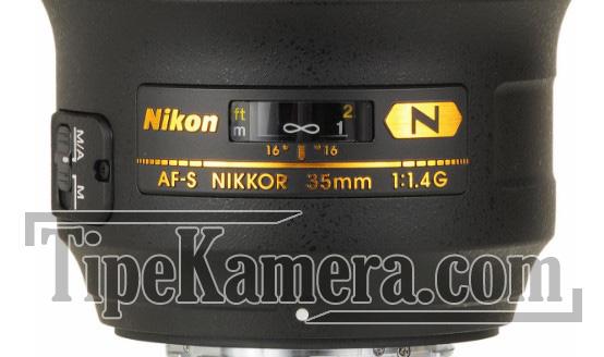 Kode pada lensa Nikon