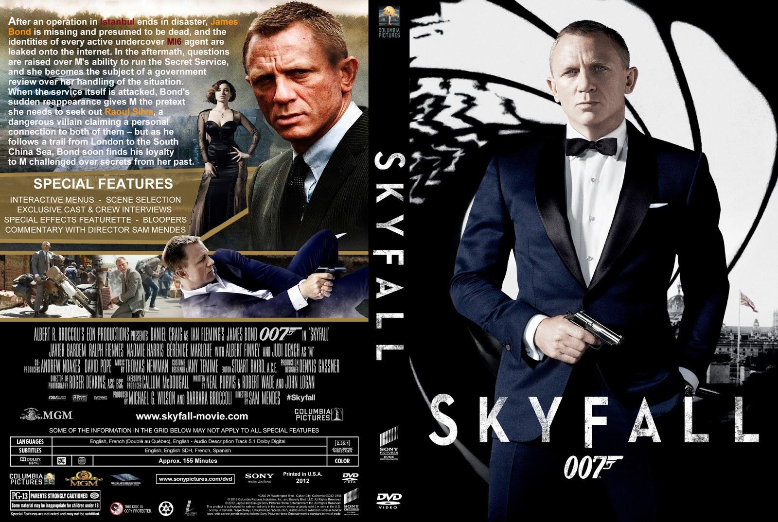 COVER DVD 007 SK...007 Skyfall Dvd Cover