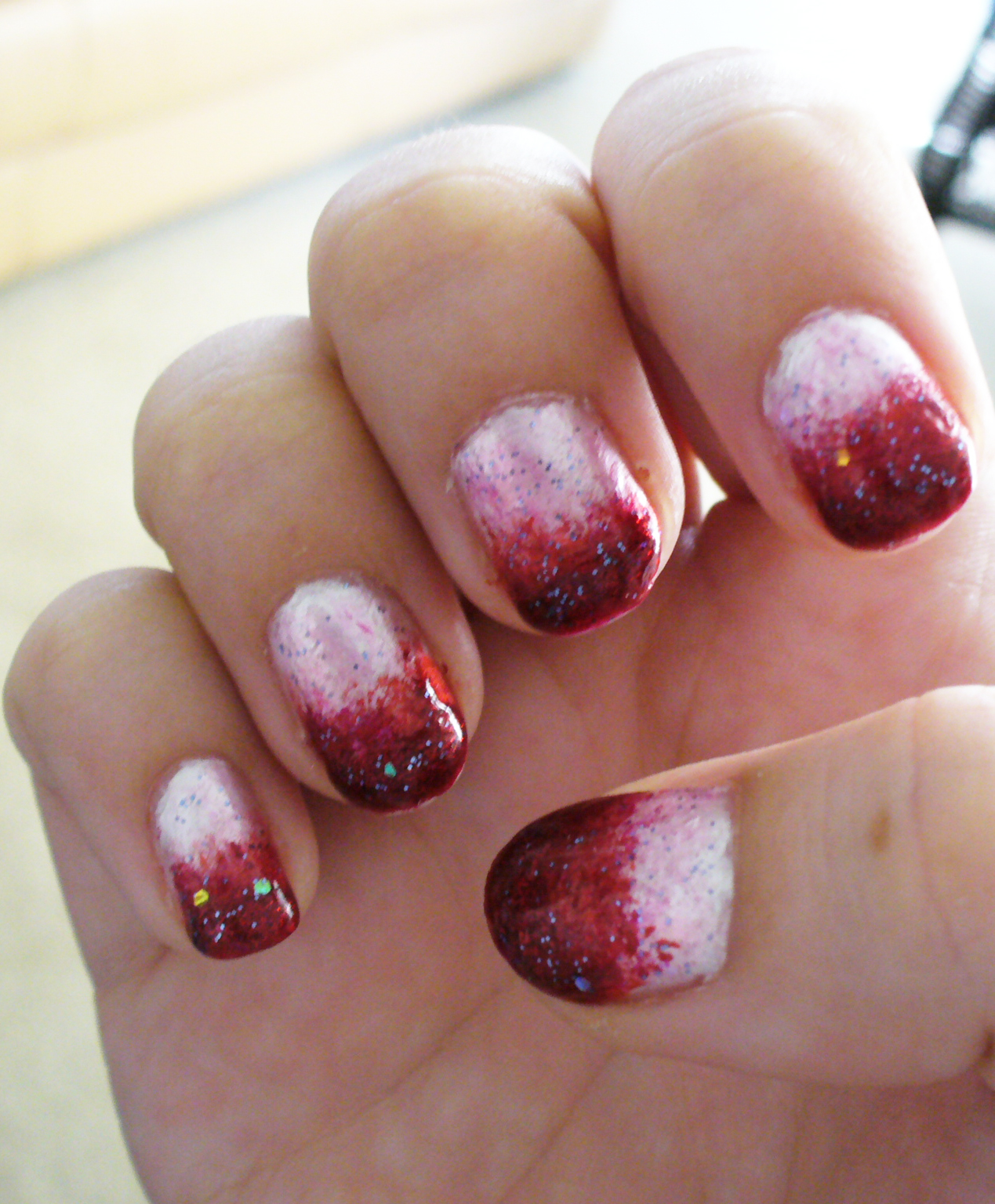 Valentines Day Red White Nail Art A Sparkly Life For Me