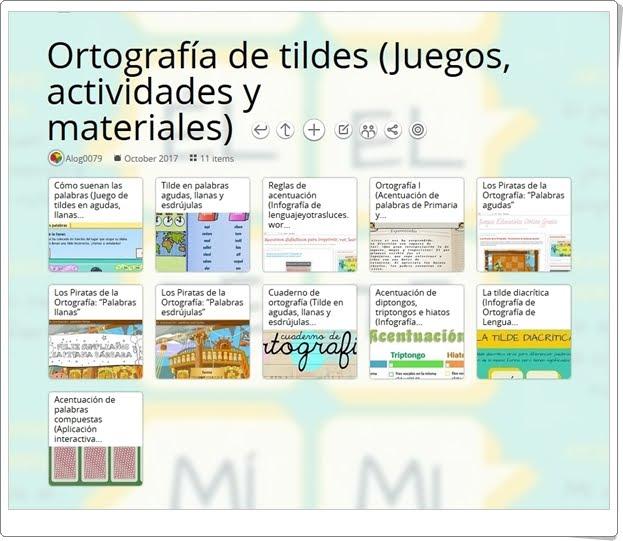 """""""13 Juegos, actividades interactivas y materiales didácticos para el ejercicio de la ORTOGRAFÍA DE LA TILDE en 5º de Primaria"""""""