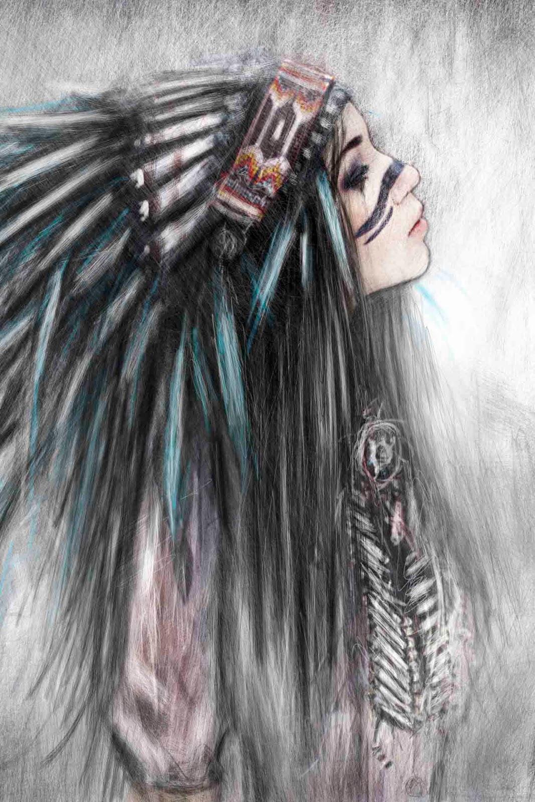 Portrait of a Native American girl