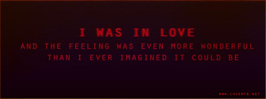 in love facebook cover
