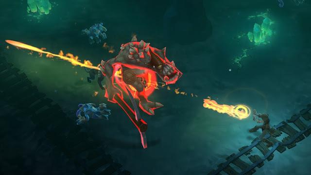 video game - Torchlight II - fighting King Pogg