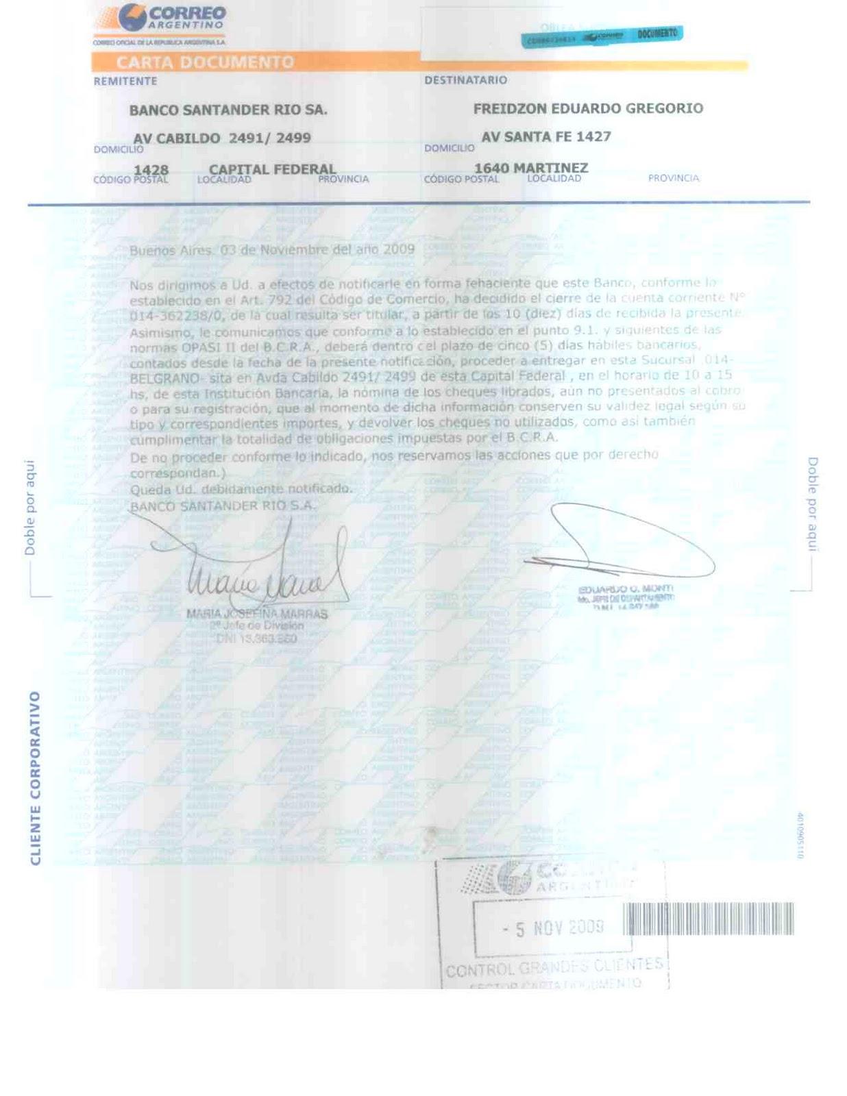Modelo Documento Prestamo En Banco Santander Rio Personas