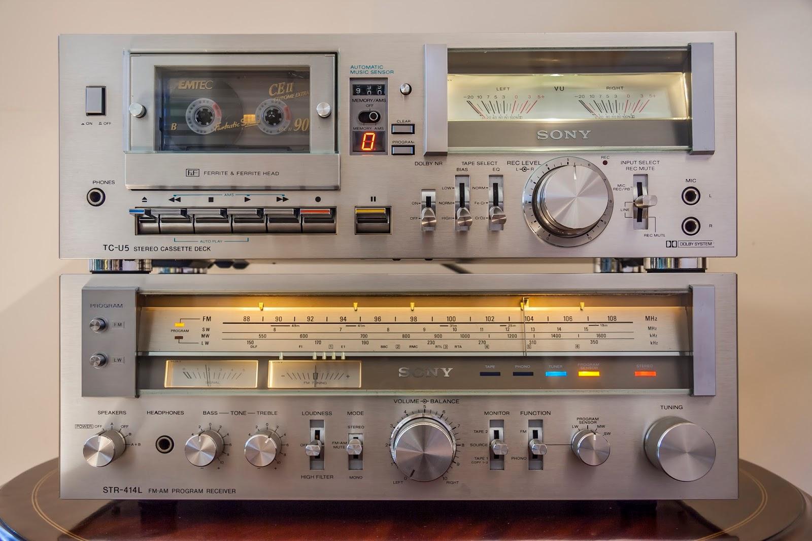 golden age of audio sony tc u5 hi fi stereo cassette deck 1978 79. Black Bedroom Furniture Sets. Home Design Ideas