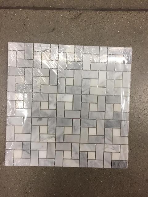 marble basketweave tile