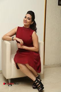 Telugu Tollywood Anchor Manjusha Pos in Red Short Dress  0126.JPG