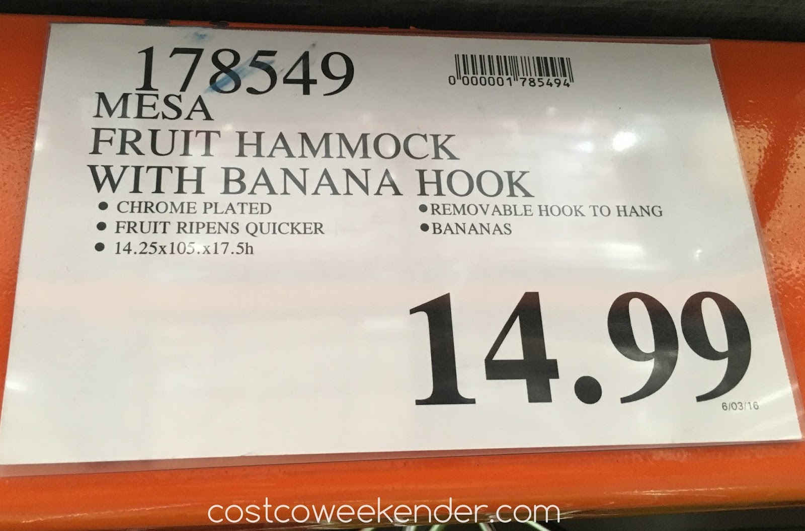 Mesa Fruit Hammock With Banana Hook | Costco Weekender