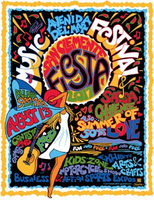 2017 San Clemente Fiesta Music Festival Design by Kimberleigh Gavin
