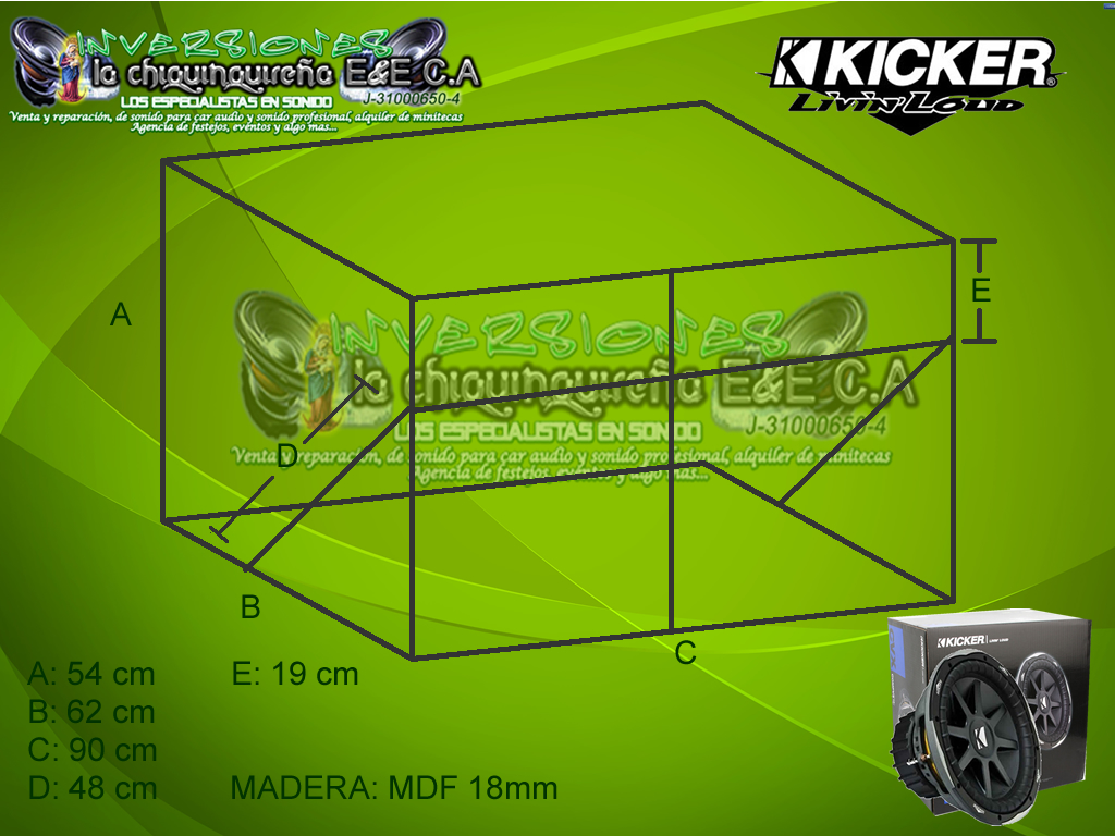 Kicker Cvr 15 Wiring Diagram 1988 Ford F150 Solenoid Caja Turbo Para Bajos Compvx Cvx Team La Chiquinquirena Medidas