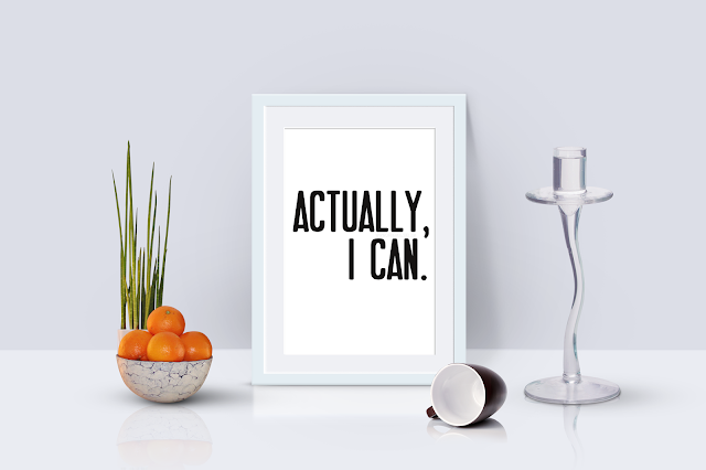 "Free Artwork ""Actually, I can."" Printable"