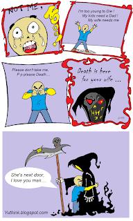funny joke about death wife