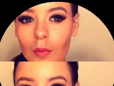 Going out makeup: black smokey eye