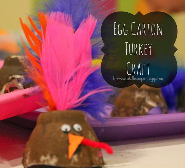 egg carton turkey craft for kids