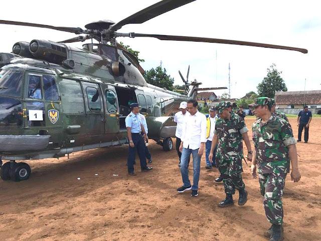 Panglima TNI Dampingi Presiden RI Tinjau Langsung Kondisi Pasca Tsunami di Wilayah Banten