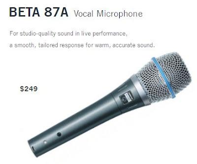 Harga Microphone Shure Beta 87A