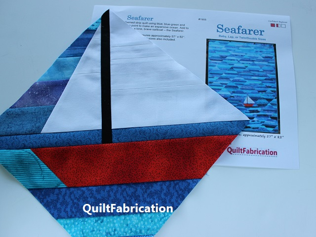 Seafarer sailboat by QuiltFabrication