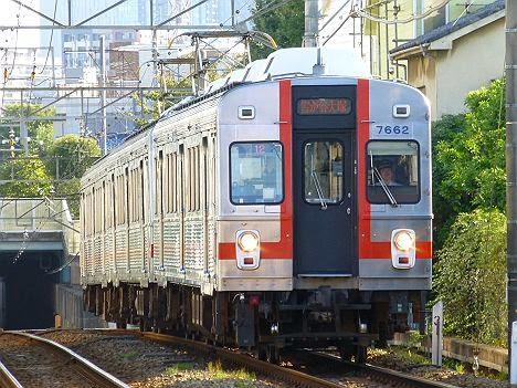 東京急行電鉄池上線 雪が谷大塚行き1 7600系7602F(廃車)