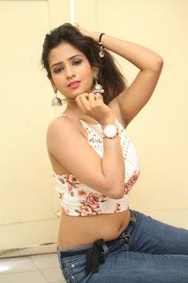 Deekshita Parvathi in a short crop top and Denim Jeans Spicy Pics Beautiful Actress Deekshita Parvathi January 2017 CelebxNext (209).JPG