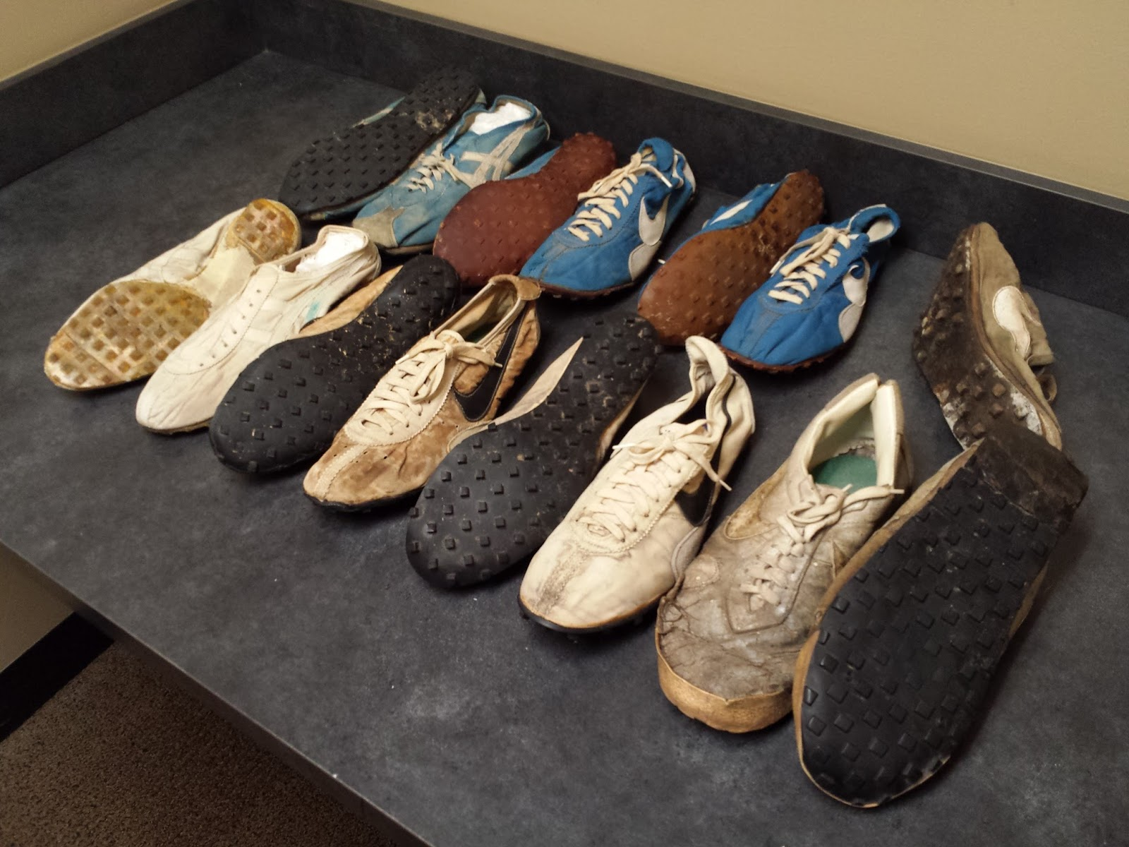 6f0352356c2d7 Blue Ribbon Sports Onitsuka Tigers with waffle sole applied by Bill Bowerman  (Cullen)
