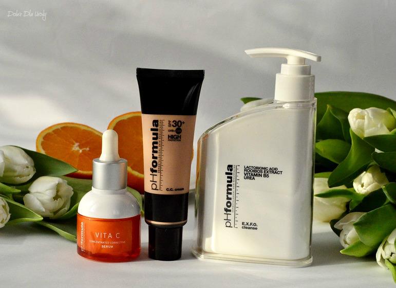 Topestetic pH Formuła - EXFO Cleanse, Vita C Serum oraz CC Cream SPF 30+  recenzja
