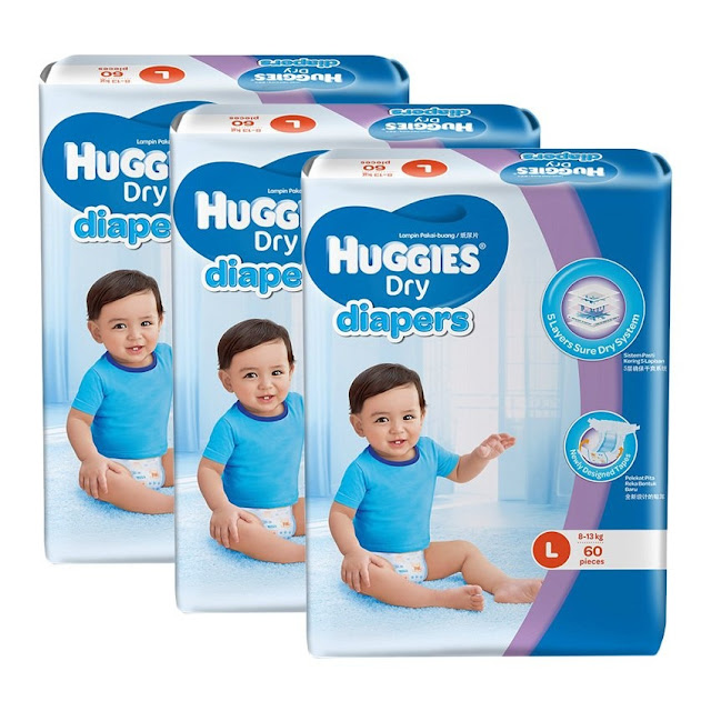 Huggies Dry Diapers L60