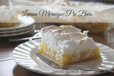 Lemon Meringue Pie Bars recipe from Served Up With Love