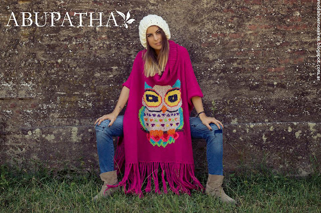 Moda otoño invierno 2016 tejidos. Abupatha tejidos artesanales, sacos, sweaters, ponchos invierno 2016.