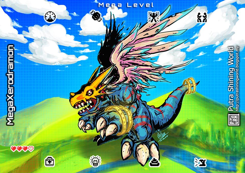 Digimon style: Mega Xerodramon