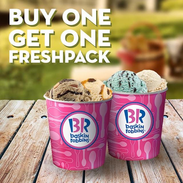 BaskinRobbins - Promo Buy 1 Get 1 Freshpack All Variant Pakai Kupon Line