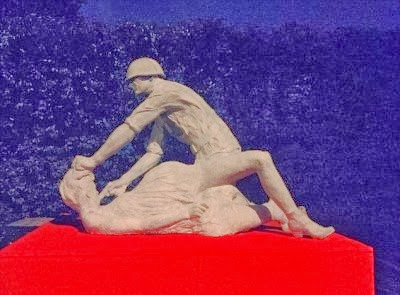 German women mass rape Red Army WW2 sculpture
