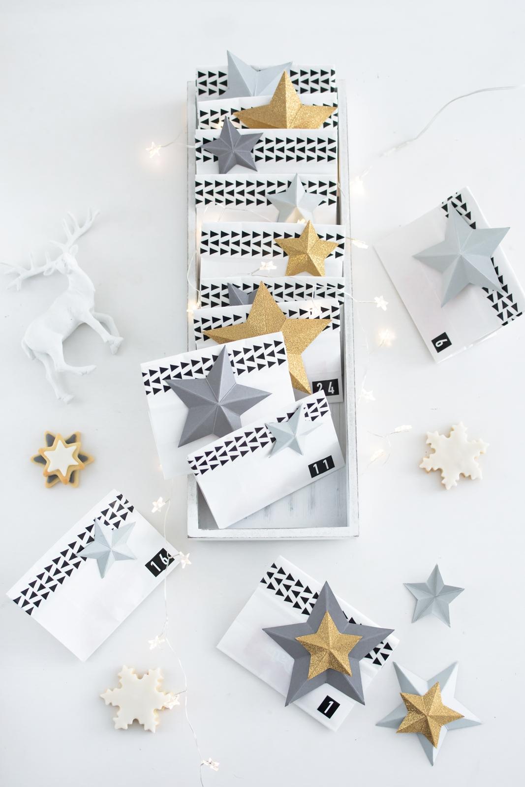 Für Kurzentschlossene: Last-Minute-Adventskalender + DIY Papiersterne