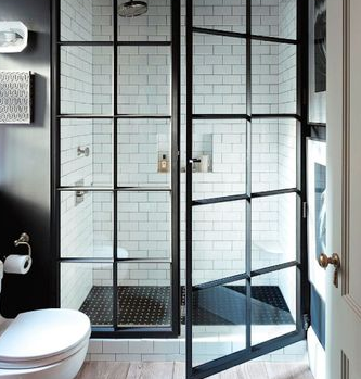 Gorgeous shower door that is loved all the time.